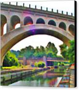 Manayunk Canal Canvas Print by Bill Cannon