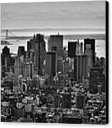 Manhattan Cityscape Canvas Print by Andreas Freund