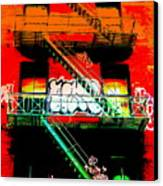 Manhattan Fire Escape Canvas Print by Funkpix Photo Hunter
