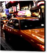 Manhattan Taxis Canvas Print by Jose Roldan Rendon