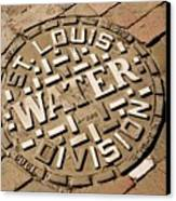 Manhole Cover In St Louis Canvas Print by Mark Williamson