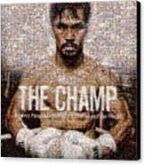 Manny Pacquiao-the Champ Canvas Print by Ted Castor