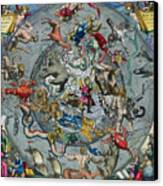 Map Of The Constellations Of The Northern Hemisphere Canvas Print by Andreas Cellarius