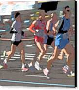 Marathon Runners II Canvas Print by Clarence Holmes