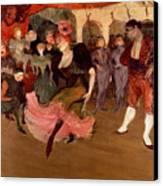 Marcelle Lender Dancing The Bolero In Chilperic Canvas Print by Henri de Toulouse Lautrec