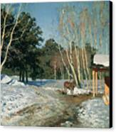 March Canvas Print by Isaak Ilyich Levitan