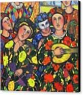 Mardis Gras Canvas Print by Marilene Sawaf