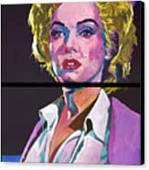 Marilyn Monroe Dyptich Canvas Print by David Lloyd Glover