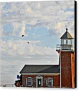 Mark Abbott Memorial Lighthouse  - Home Of The Santa Cruz Surfing Museum Ca Usa Canvas Print by Christine Till