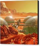 Mars Colony Canvas Print by Don Dixon