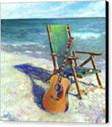 Martin Goes To The Beach Canvas Print by Andrew King