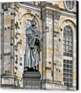 Martin Luther Monument Dresden Canvas Print by Christine Till