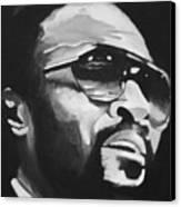 Marvin Gaye II Canvas Print by Mikayla Ziegler