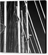 Mast Profile Canvas Print by John Rizzuto