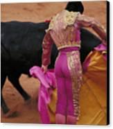 Matador And Bull Canvas Print by Carl Purcell
