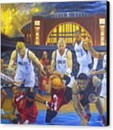 Mavericks Defeat The King And His Court Canvas Print by Luis Antonio Vargas