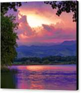 Mcintosh Lake Sunset Canvas Print by James BO  Insogna