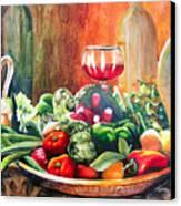 Mediterranean Table Canvas Print by Karen Stark