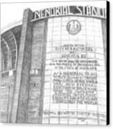 Memorial Stadium Canvas Print by Juliana Dube