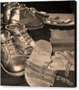Memories Of Little Feet Canvas Print by Sandy Poore