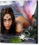 Mermaid Lagoon Canvas Print by Crispin  Delgado