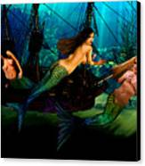 Mermaid Shipwreck  Canvas Print by Tray Mead