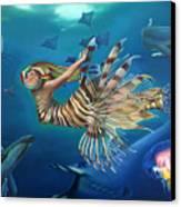 Mermalien Odyssey Canvas Print by Patrick Anthony Pierson