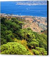 Messina Strait - Italy Canvas Print by Silvia Ganora