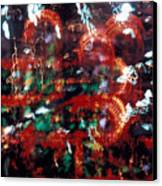 Mexico City At Night 1965 Canvas Print by Warren Sarle