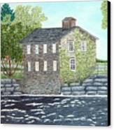 Meyers Mill Canvas Print by Peggy Holcroft