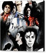 Michael Jackson - King Of Pop Canvas Print by Lin Petershagen