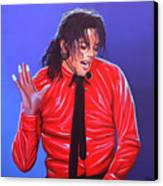 Michael Jackson 2 Canvas Print by Paul Meijering