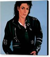 Michael Jackson Bad Canvas Print by Paul Meijering
