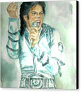 Michael Jackson Bad Tour Canvas Print by Nicole Wang