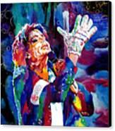 Michael Jackson Sings Canvas Print by David Lloyd Glover