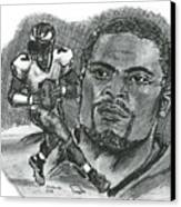 Michael Vick Canvas Print by Chris  DelVecchio