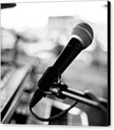 Microphone On Empty Stage Canvas Print by Image By Randymsantaana