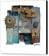 Midnight Mechanism Canvas Print by Scott Rolfe
