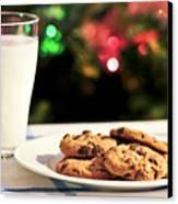 Milk And Cookies For Santa Canvas Print by Elena Elisseeva