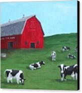 Milking Time Dairy Canvas Print by Kerri Ertman