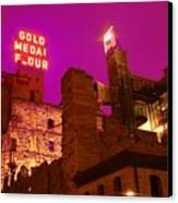 Mill City At Night Canvas Print by Heidi Hermes