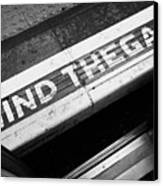 Mind The Gap Between Platform And Train At London Underground Station England United Kingdom Uk Canvas Print by Joe Fox