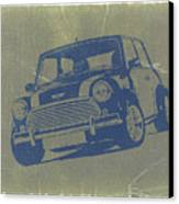 Mini Cooper Canvas Print by Naxart Studio