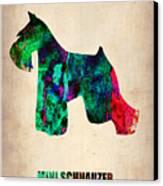 Miniature Schnauzer Poster 2 Canvas Print by Naxart Studio
