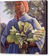 Miss Emma's Collard Greens Canvas Print by Curtis James