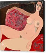 Modelo Valentina  Canvas Print by Carlos Camus