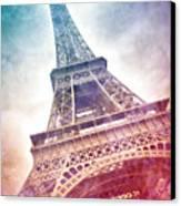 Modern-art Eiffel Tower 21 Canvas Print by Melanie Viola