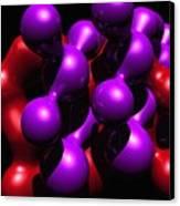 Molecular Abstract Canvas Print by David Lane