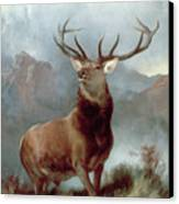 Monarch Of The Glen Canvas Print by Sir Edwin Landseer