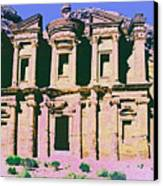 Monastery At Petra Canvas Print by Dominic Piperata